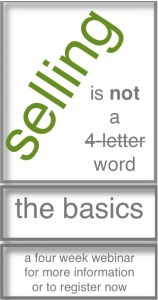Selling is NOT a 4-Letter Word